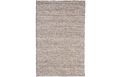 114X162 Rug-Oatmeal Textured Wool Stripe