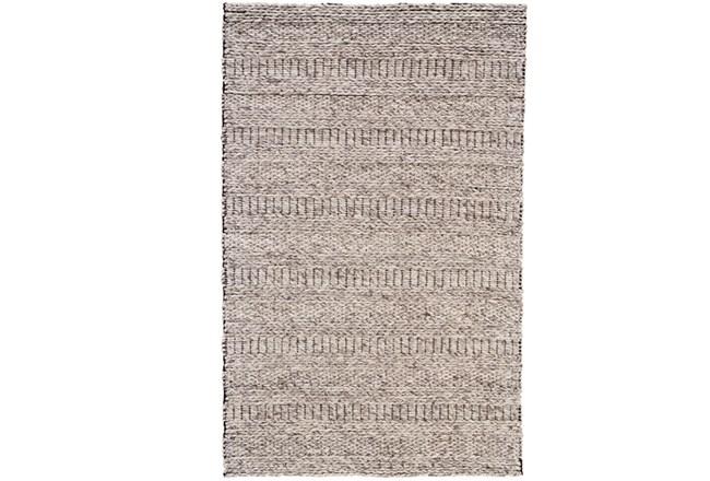 114X162 Rug-Oatmeal Textured Wool Stripe - 360