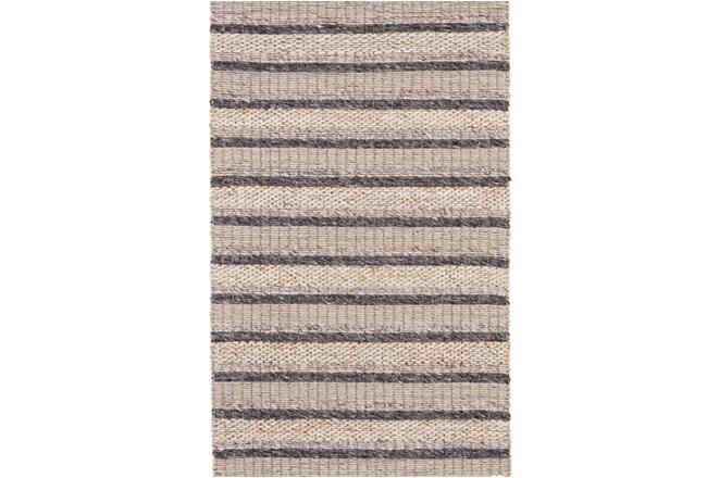42X66 Rug-Natural Textured Wool Stripe - 360