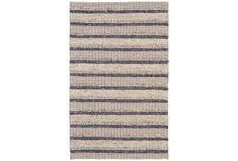 "9'5""x13'5"" Rug-Natural Textured Wool Stripe"