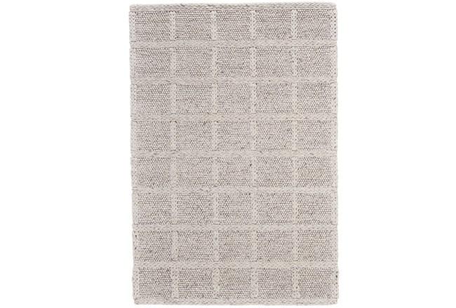 5'x8' Rug-Ivory Textured Wool Grid - 360