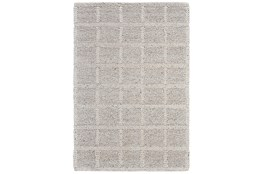 8'x11' Rug-Ivory Textured Wool Grid