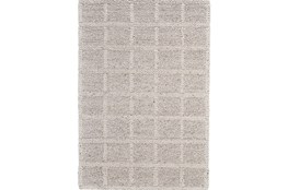 24X36 Rug-Ivory Textured Wool Grid
