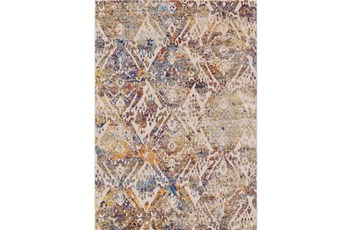 8'x11' Rug-Mebel Cream And Indigo