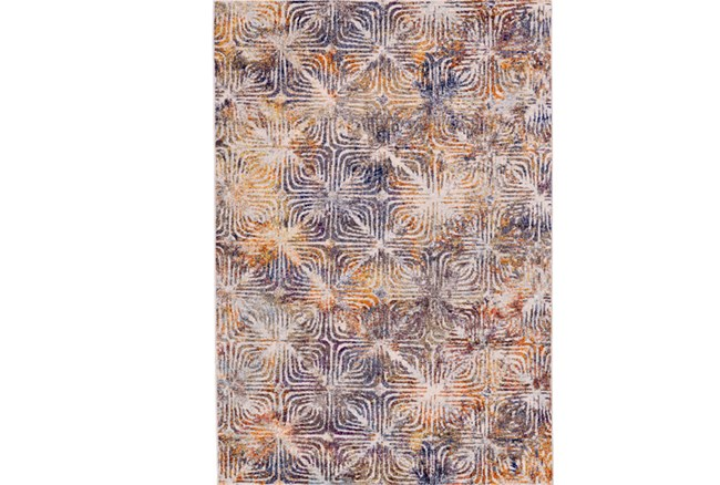 34X96 Rug-Mebel Cream And Indigo - 360