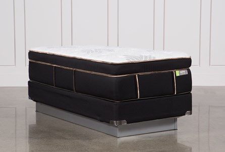 Copper Springs Medium Twin Extra Long Mattress W/Foundation