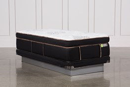 Copper Springs Medium Twin Xl Mattress W/Low Profile Foundation