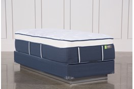 Blue Springs Medium Twin Extra Long Mattress W/Foundation