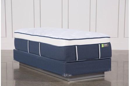 Blue Springs Medium Twin Extra Long Mattress W/Foundation - Main