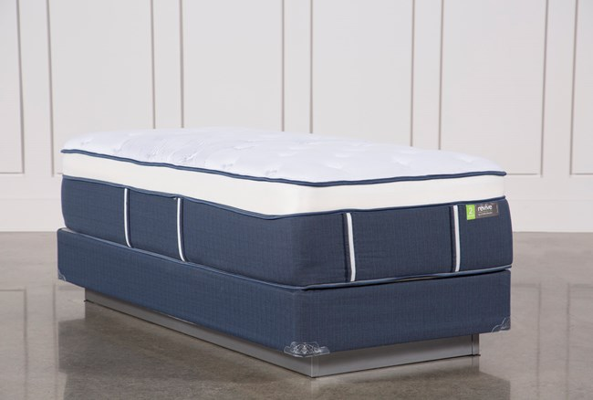 Blue Springs Medium Twin Extra Long Mattress W/Foundation - 360
