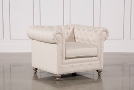 Mansfield Beige Linen Chair