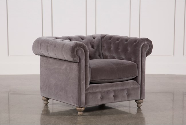 Mansfield Graphite Velvet Chair - 360