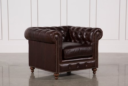 Mansfield Cocoa Leather Chair