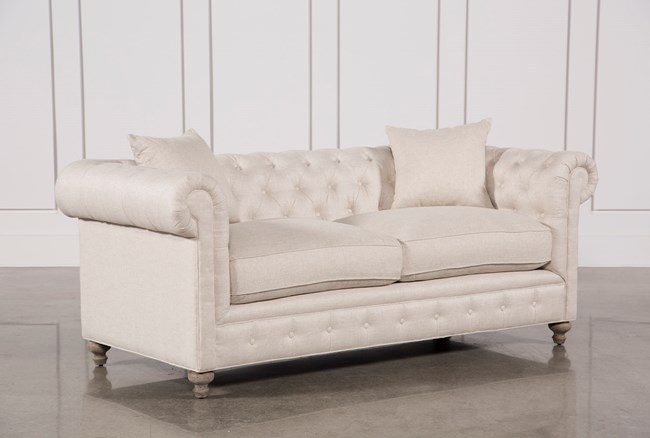 Mansfield 86 Inch Beige Linen Sofa - 360