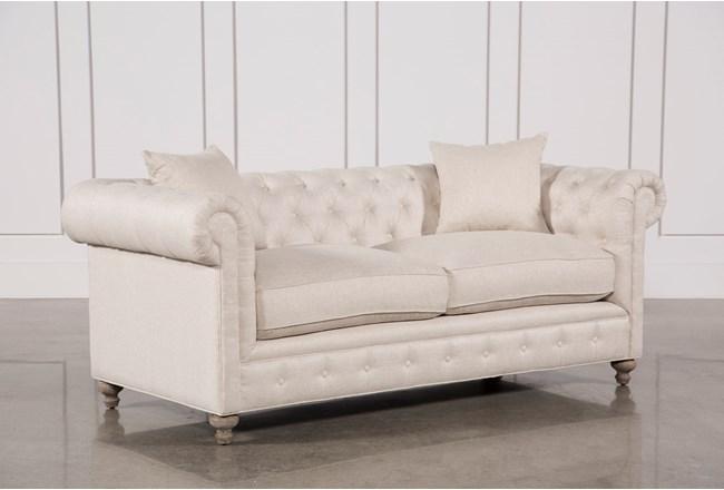 Mansfield 86 Inch Beige Linen Sofa 360
