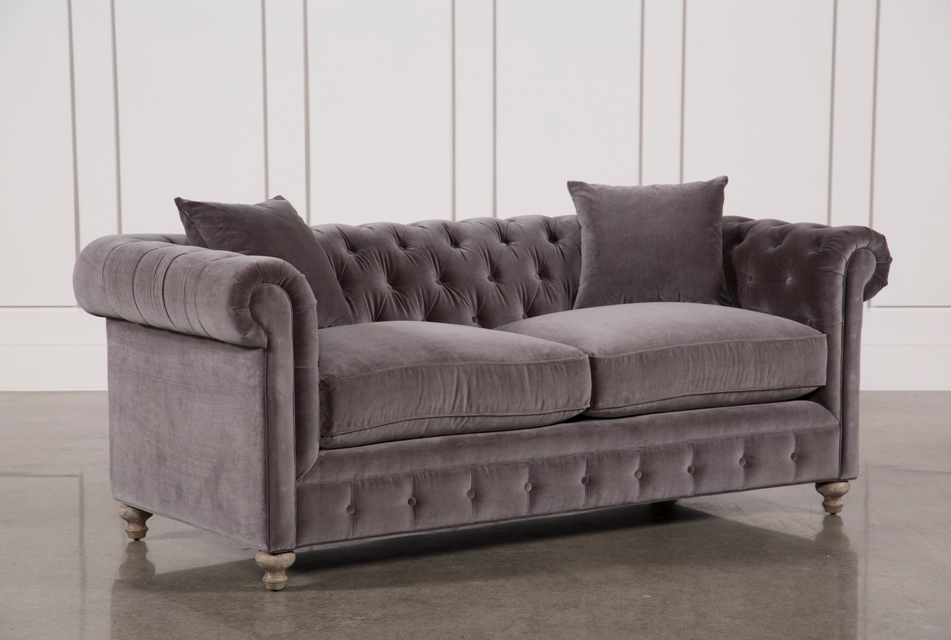 Mansfield 86 inch graphite velvet sofa qty 1 has been successfully added to your cart