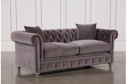 Mansfield 86 Inch Graphite Velvet Sofa - Main