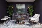 Mansfield 86 Inch Graphite Velvet Sofa - Room