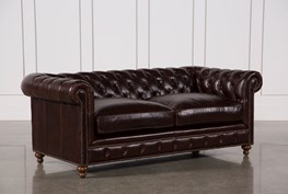Mansfield 86 Inch Cocoa Leather Sofa