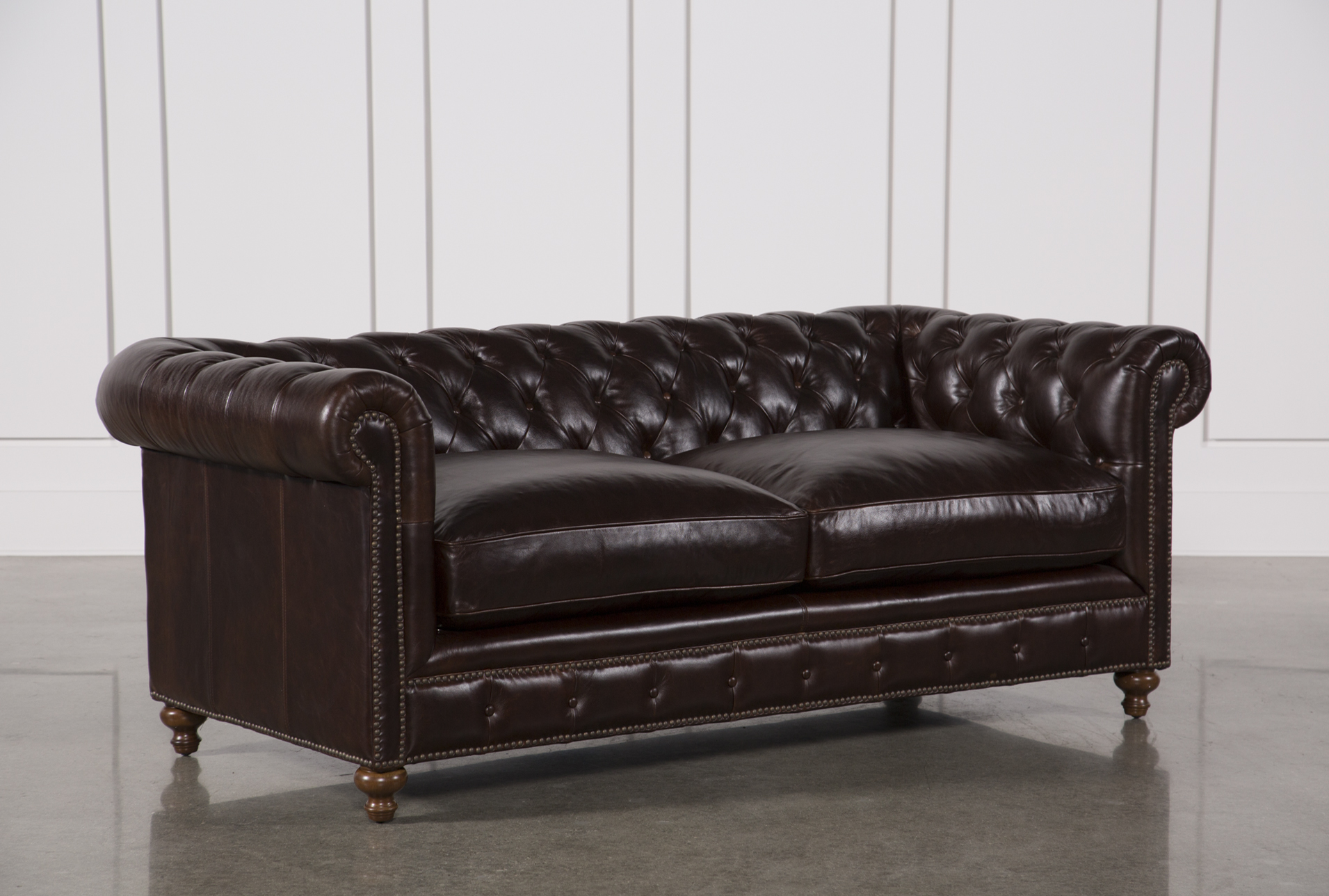 Delicieux Added To Cart. Mansfield 86 Inch Cocoa Leather Sofa ...