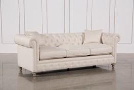 Mansfield 96 Inch Beige Linen Sofa