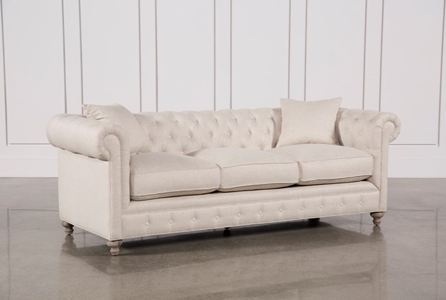 Mansfield 96 Inch Beige Linen Sofa - 360