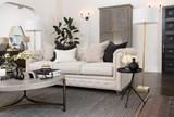 Mansfield 96 Inch Beige Linen Sofa - Room