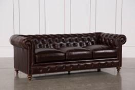 Mansfield 96 Inch Cocoa Leather Sofa