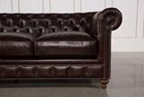 Mansfield 96 Inch Cocoa Leather Sofa - Right
