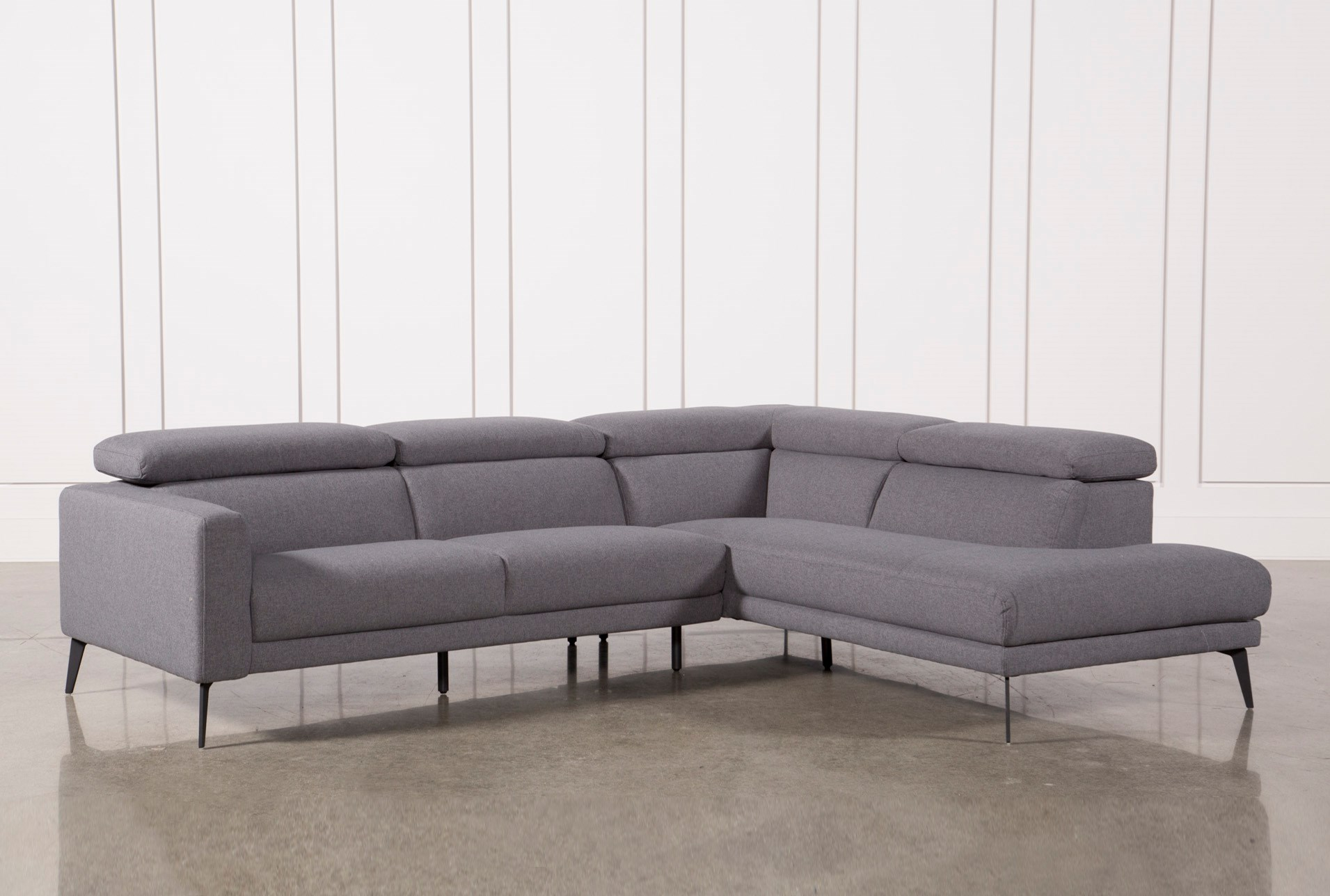 Neo Grey 2 Piece Sectional W/Laf Chaise | Living Spaces