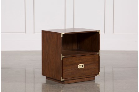Adams Walnut 1-Drawer Nightstand - Main