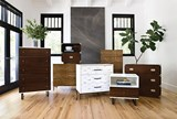 Adams Walnut 1-Drawer Nightstand - Room