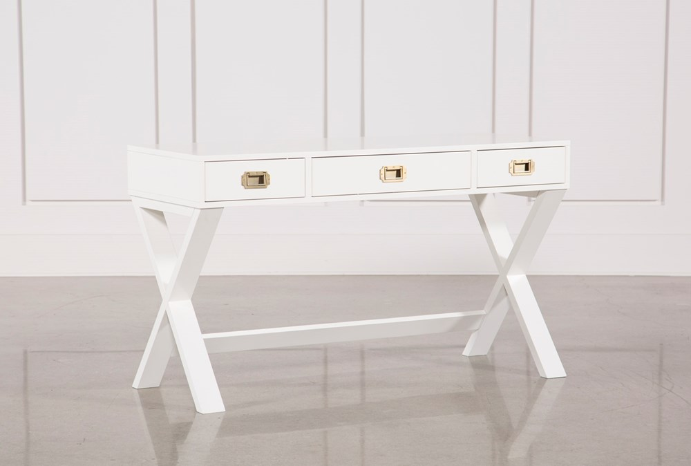 "Adams White 52"" Desk"