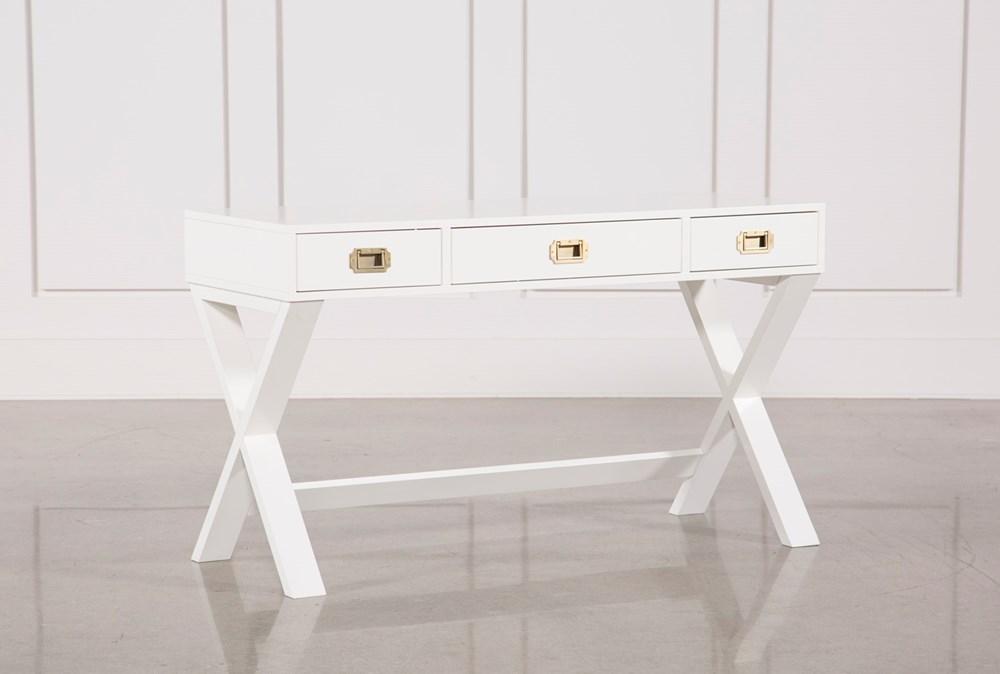 Adams White Desk