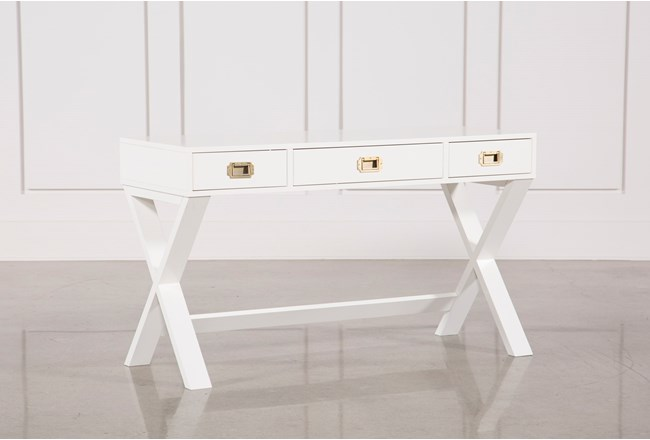 "Adams White 52"" Desk - 360"