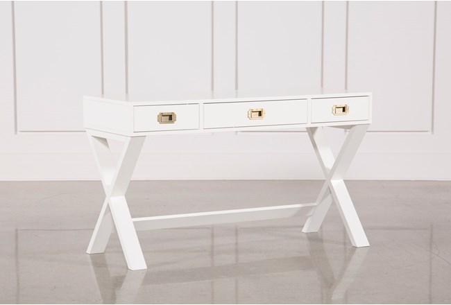 Adams White Desk - 360
