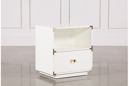Adams White 1-Drawer Nightstand - Main