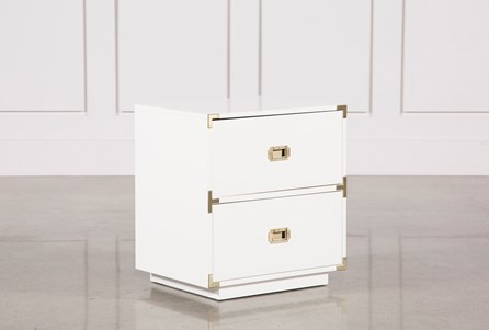 Adams White 2-Drawer Nightstand