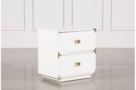 Adams White 2-Drawer Nightstand - Main