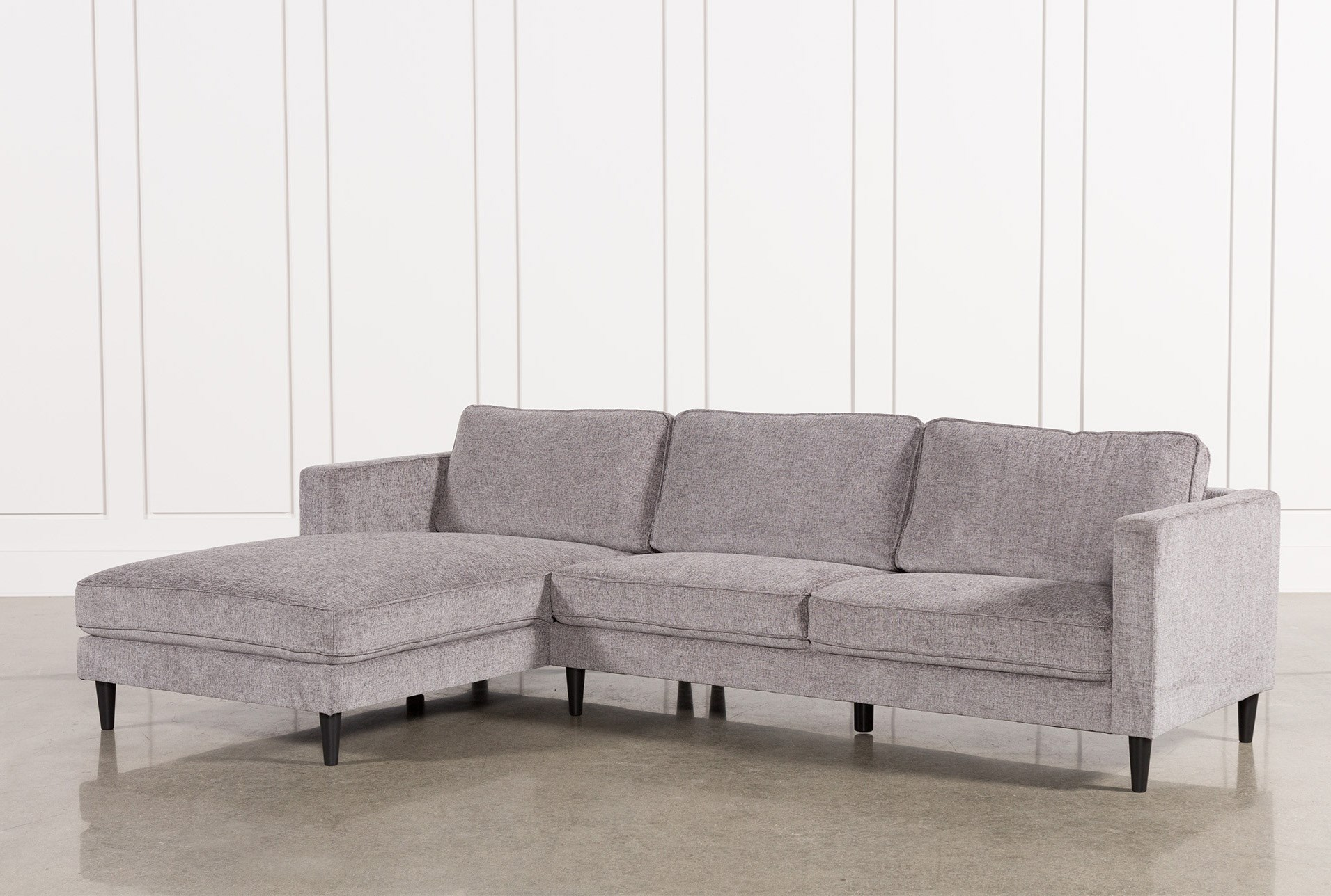 Cosmos Grey 2 Piece Sectional W/Laf Chaise | Living Spaces