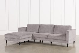 Cosmos Grey 2 Piece Sectional W/Laf Chaise