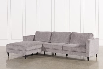 """Cosmos Grey 2 Piece 112"""" Sectional With Left Arm Facing Chaise"""