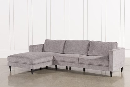 Marvelous Cosmos Grey 2 Piece Sectional With Left Arm Facing Chaise Dailytribune Chair Design For Home Dailytribuneorg