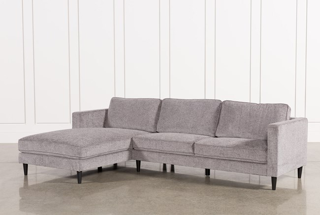 """Cosmos Grey 2 Piece 112"""" Sectional With Left Arm Facing Chaise - 360"""