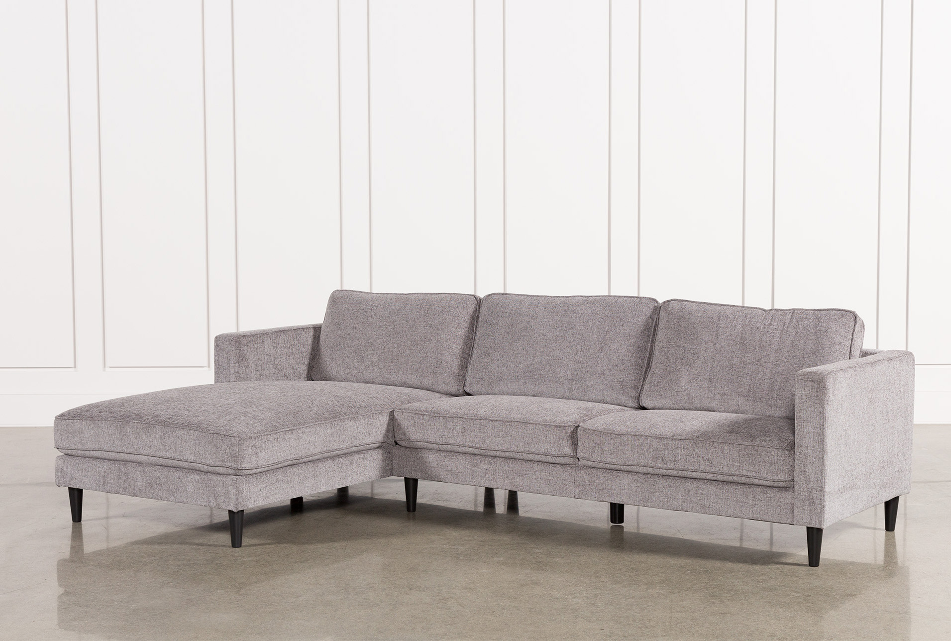 Delightful Cosmos Grey 2 Piece Sectional W/Laf Chaise (Qty: 1) Has Been Successfully  Added To Your Cart.