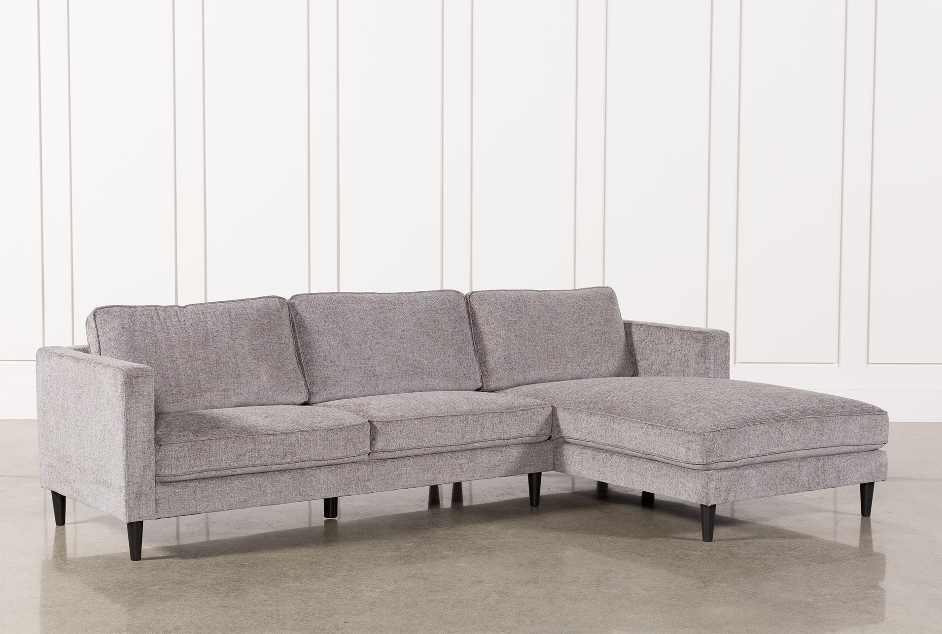 Grey Upholstered Mid Century Sectional