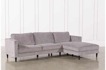 "Cosmos Grey 2 Piece 112"" Sectional With Right Arm Facing Chaise"