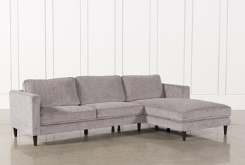 """Cosmos Grey 2 Piece 112"""" Sectional With Right Arm Facing Chaise"""