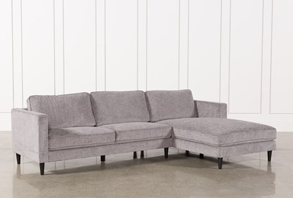 on sale 7d255 5b2ba Cosmos Grey 2 Piece Sectional With Right Arm Facing Chaise