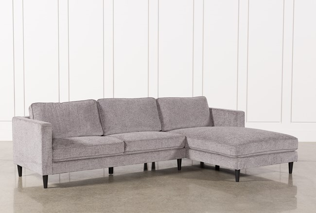 """Cosmos Grey 2 Piece 112"""" Sectional With Right Arm Facing Chaise - 360"""